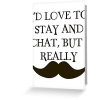 I Mustache Greeting Card