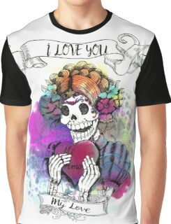 Sugar Skull Love Graphic T-Shirt