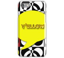 Dialogue: No Questions iPhone Case/Skin