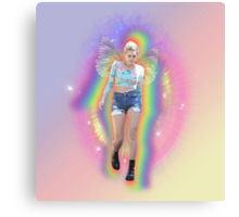 Fairy Miley Aura Rainbow Canvas Print
