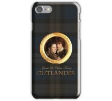 Jamie & Claire on Fraser plaid iPhone Case/Skin