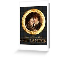 Jamie & Claire on Fraser plaid Greeting Card