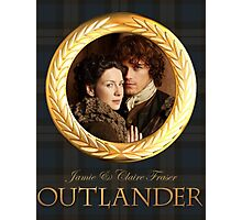Jamie & Claire on Fraser plaid Photographic Print