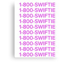 Taylor swift 1-800-swiftie  Canvas Print