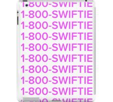 Taylor swift 1-800-swiftie  iPad Case/Skin