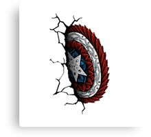 Cap. America Shield (Color) Canvas Print