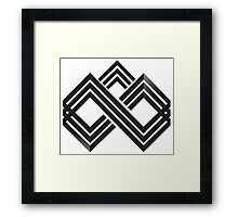 CROSSHATCH MOUNTAINS Framed Print