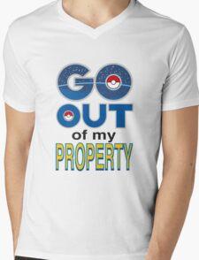 (POKÉMON) GO OUT OF MY PROPERTY! Mens V-Neck T-Shirt