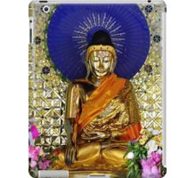 Electric Buddha statue at a temple in Bago, Myanmar iPad Case/Skin