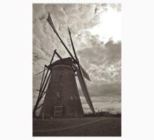 Sunset Windmill B&W One Piece - Long Sleeve