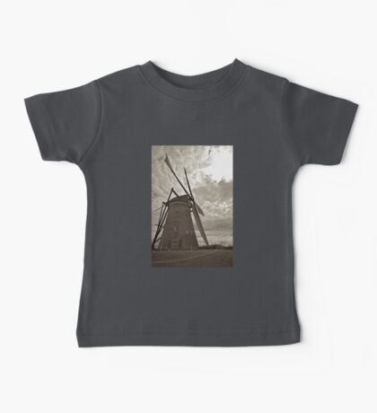 Sunset Windmill B&W Baby Tee