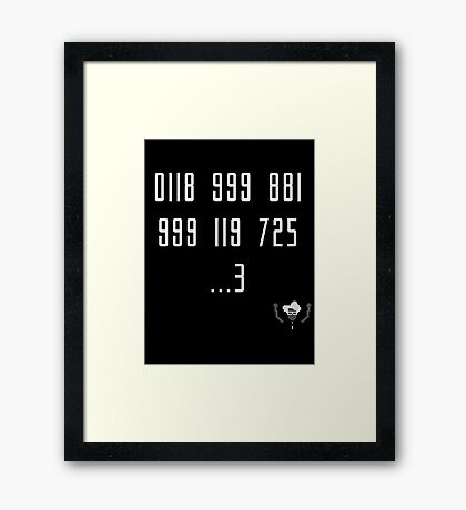 Police Number from the IT Crowd Framed Print