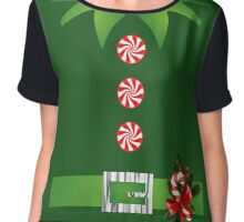 green elf Merry Christmas Santa's helper elf costume  Chiffon Top