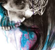 PRINCESS - Ink and Charcoal Skull Portrait Sticker