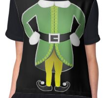 cute cartoon christmas santa's helper elf costume Chiffon Top