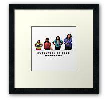 Evolution of Glee    Mercedes Jones Framed Print