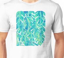 Split Leaf Philodendron – Turquoise Unisex T-Shirt