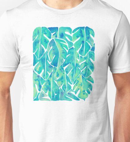 Split Leaf Philodendron – Turquoise Unisex T-Shirt