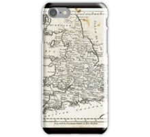 c1810 Map of England And Wales iPhone Case/Skin