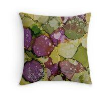 Abstact Flower Garden Throw Pillow
