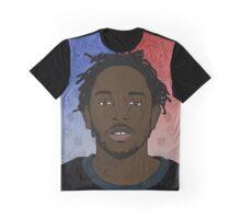 Kendrick Lamar - Red & Blue Graphic T-Shirt