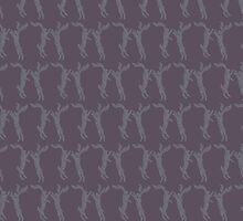 Boxing Hares - Aubergine by lottibrown