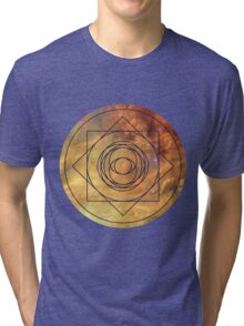 Design On the Front - Eye of the Nebula Clothing Tri-blend T-Shirt