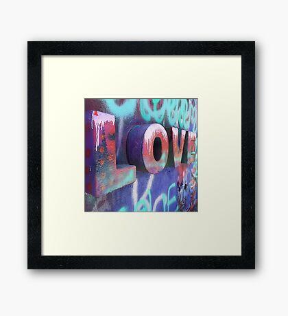 Graffiti with Love Framed Print