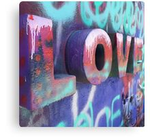 Graffiti with Love Canvas Print