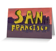 San Francisco Postcard Greeting Card