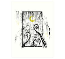 Yellow Moon Art Print