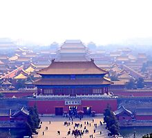 Forbidden city complex in Beijing, China by morariu