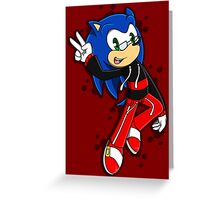 Cool Sonic Greeting Card