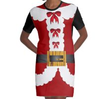 funny Merry Christmas Mrs Claus  Graphic T-Shirt Dress