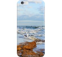 Waves Crashing on the Jetty Wall iPhone Case/Skin