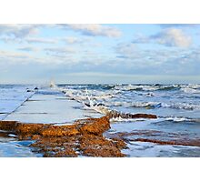 Waves Crashing on the Jetty Wall Photographic Print
