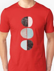 Abstract half circles in turquoise, black and gray Unisex T-Shirt