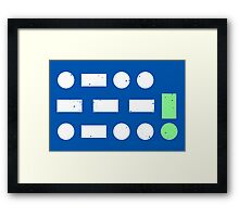 LAUGH / OUT / LOUD Framed Print