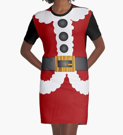 merry christmas cute Santa Claus  Graphic T-Shirt Dress