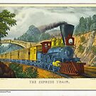 Currier & Ives Print The Express Train by toolemera