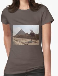 Ancient Egypt Pyramids in Cairo Camel Ride Womens Fitted T-Shirt