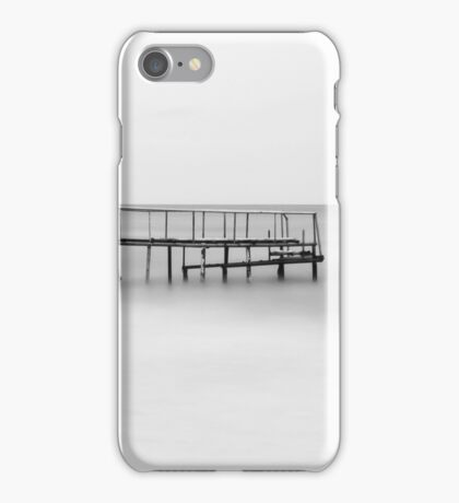 The Lonely Pier - B/W iPhone Case/Skin