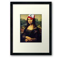Pokémona Lisa Framed Print