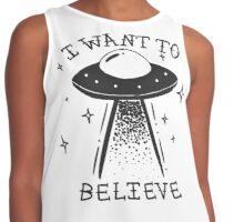 I want to believe  Contrast Tank