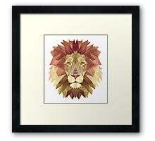 Abstract Lion Framed Print