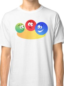Blue Red And Green Fun Colourful Smiley's Classic T-Shirt