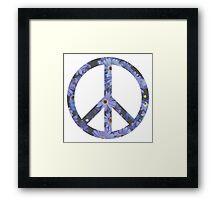 Peace Sign Flowers Framed Print