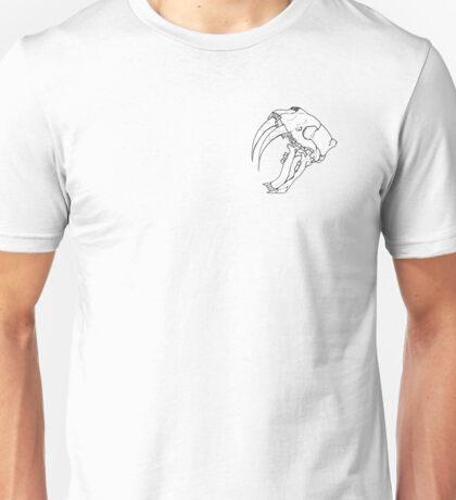 SABER TOOTH TIGER SKULL Unisex T-Shirt