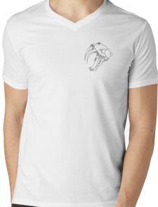 SABER TOOTH TIGER SKULL Mens V-Neck T-Shirt