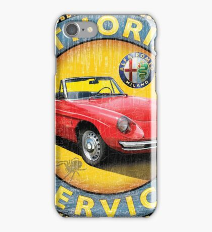Alfa Romeo Authorized vintage service sign iPhone Case/Skin